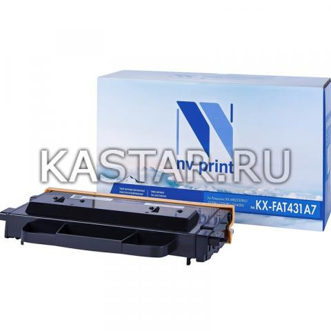 Картридж NVP совместимый NV-KX-FAT431A7 для Panasonic KX-MB2230RU | 2270RU | 2510RU | 2540RU Черный (Black) 6000стр.