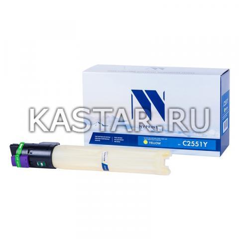 Тонер-картридж NVP совместимый NV-MP C2551 Yellow для Ricoh Aficio MP C2051 | C2051AD | C2551 | C2551AD Желтый (Yellow) 9500стр.
