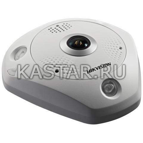 6Мп FishEye-камера Hikvision DS-2CD6362F-IS с ИК-подсветкой и мультиканальным режимом
