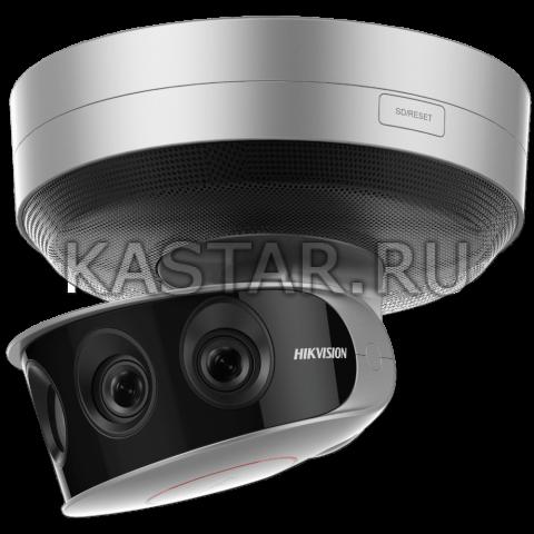 Мультисенсорная 24 Мп IP-камера Hikvision DS-2CD6A64F-IHS/NFC с 4 объективами, ИК-подсветкой