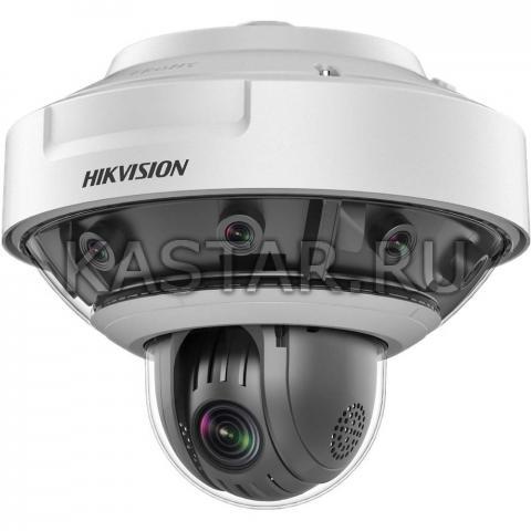 Панорамная (360°) 18 Мп IP-камера Hikvision DS-2DP1636Z-D с 8 сенсорами и PTZ-модулем x36
