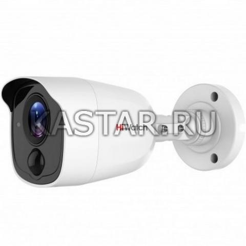 Уличная цилиндрическая HD-TVI камера HiWatch DS-T210 с ИК-подсветкой и PIR-датчиком