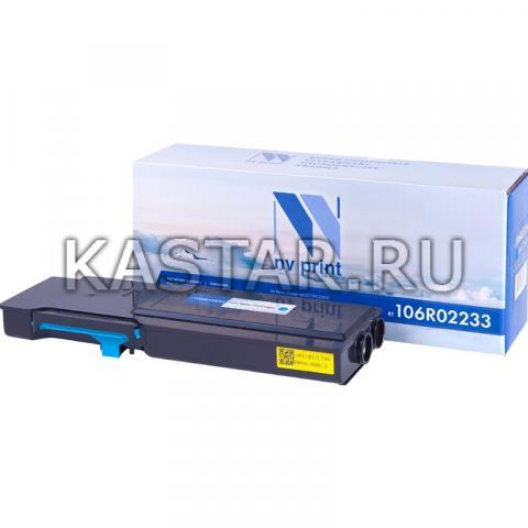 Картридж NVP совместимый NV-106R02233 Cyan для Xerox Phaser 6600   WorkCentre 6605 Голубой (Cyan) 6000стр.