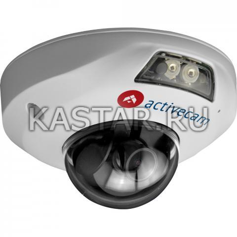 Купол Мини-купольная IP-камера ActiveCam AC-D4121IR1 (3.6 мм) в вандалостойком корпусе
