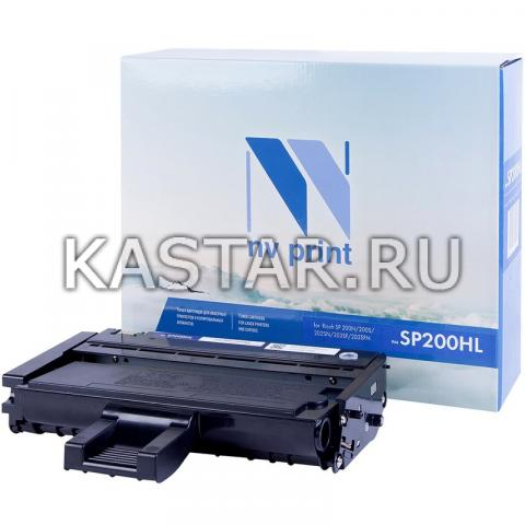 Картридж NVP совместимый NV-SP200HL для Ricoh SP 200N | 200S | 202SN | 203SF | 203SFN Черный (Black) 1500стр.