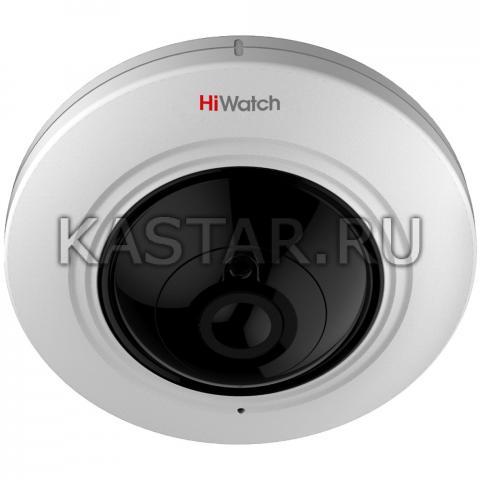 HD-TVI камера 5 Мп HiWatch DS-T501 с объективом «рыбий глаз», аудио и ИК-подсветкой EXIR