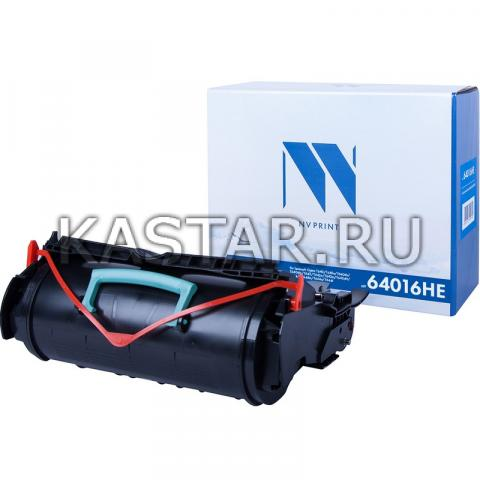 Картридж NVP совместимый NV-64016HE для Lexmark Optra T640 | T640n | T640dn | T640dtn | T642 | T642n | T642tn | T642dtn | T644 | T644dtn | T644n | T644tn Черный (Black) 21000стр.
