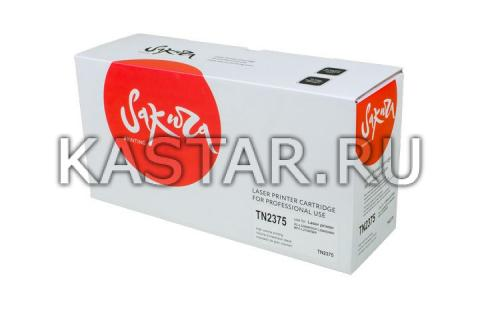 TN2375 Картридж SAKURA для Brother для HL-L2300DR / HL-L2340DWR / HL-L2360DNR / HL-L2365DWR / DCP-L2500DR / DCP-L2520DWR / DCP-L2540DNR / DCP-L2560DWR / MFC-L2700DWR / MFC-L2720DWR / MFC-L2740DWR  2600стр.