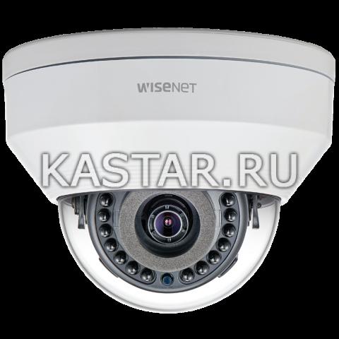 Сетевая вандалостойкая камера Wisenet LNV-6020R, WDR 120 дБ, ИК-подсветка