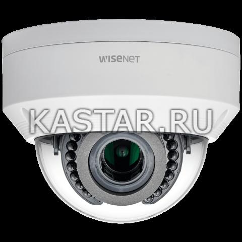 IP камера Wisenet LNV-6070R, WDR 120 дБ, вариообъектив, ИК-подсветка, IK10