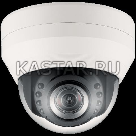 Купольная IP-камера видеонаблюдения Wisenet SND-7084RP с ИК-подсветкой и Motor-zoom