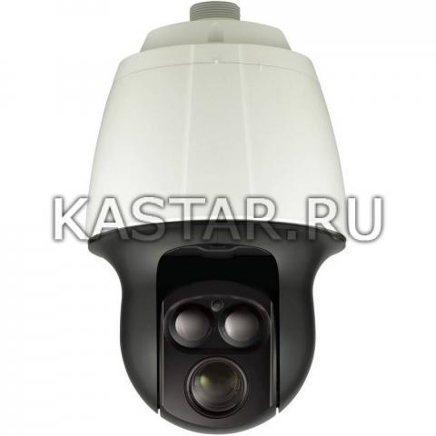 Поворотная уличная IP-камера Wisenet SNP-6320RHP с 32-кратной оптикой и ИК-подсветкой до 150 м