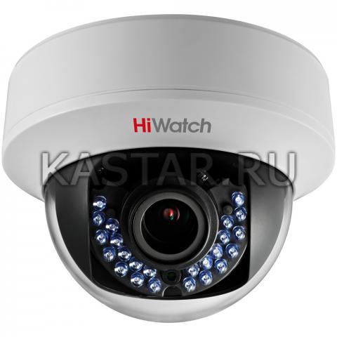 Внутренняя HD-TVI камера 1 Мп HiWatch DS-T107 с вариофокальной оптикой