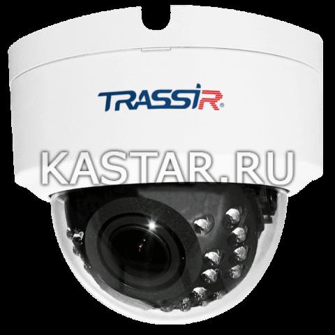 Купол 4 Мп IP-камера TRASSIR TR-D3143IR2 с ИК-подсветкой и вариофокальным объективом