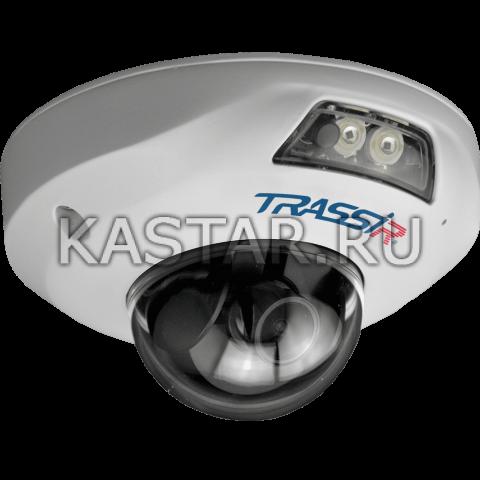Купол 4К (8 Мп) IP-камера TRASSIR TR-D4181IR1 (2.8 мм) с ИК-подсветкой 15 м