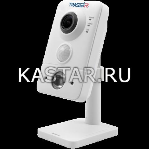 Cube Компактная IP-камера TRASSIR TR-D7121IR1 (1.9 мм) с ИК-подсветкой