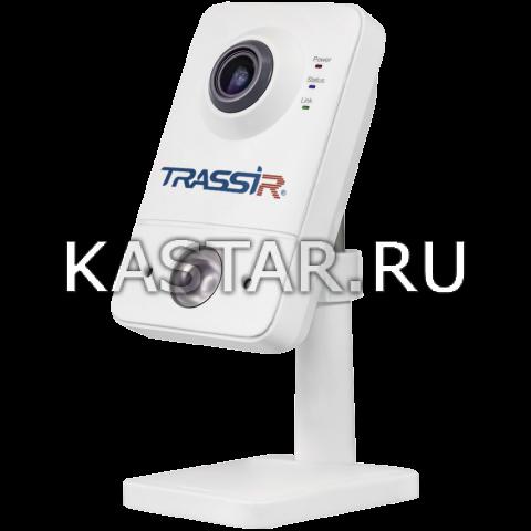 Cube Внутренняя 2 Мп IP-камера TRASSIR TR-D7121IR1W (2.8 мм) с Wi-Fi модулем и ИК-подсветкой