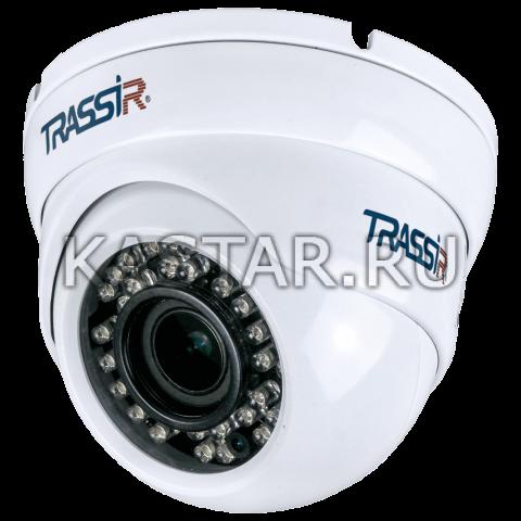Сфера 2 Мп IP-камера TRASSIR TR-D8123ZIR3 с Motor-zoom, ИК-подсветкой