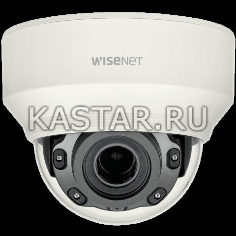 Купольная IP-камера Wisenet XND-L6080RV с ИК-подсветкой и моторизованным объективом