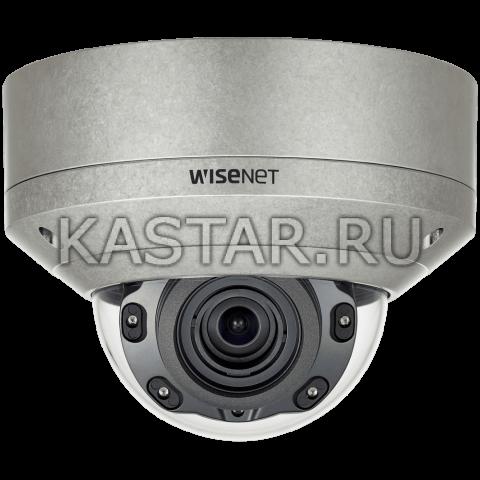 Вандалозащищенная 5Мп IP-камера Wisenet XNV-8080RS с ИК-подсветкой