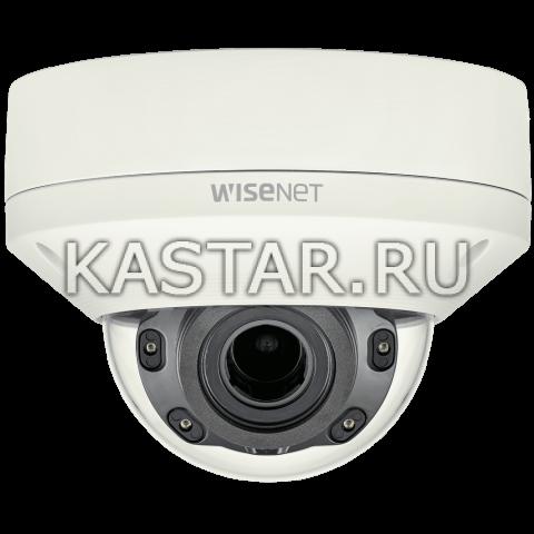 Вандалостойкая купольная IP-камера Wisenet XNV-L6080R с ИК-подсветкой и Motor-zoom