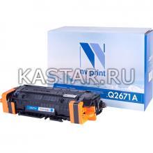 Картридж NVP совместимый NV-Q2671A Cyan для HP LaserJet  Color 3500 | 3550n | 3700 Голубой (Cyan) 4000стр.