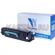 Картридж NVP совместимый NV-E260A21E для Lexmark Optra E260   E260d   E260dn   E360   E360d   E360dn   E460   E460dn   E460dw Черный (Black) 3500стр.