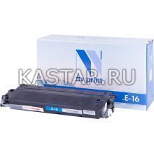 Картридж NVP совместимый NV-E-16 для Canon  FC-2xx | 3xx | 530 | 108 | 208 | PC-7xx | PC-8xx Черный (Black) 2000стр.