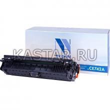 Картридж NVP совместимый NV-CE742A Yellow для HP LaserJet Color CP5220   CP5225   CP5225dn   CP5225n Желтый (Yellow) 7300стр.