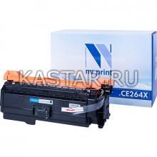 Картридж NVP совместимый NV-CE264X Black для HP LaserJet Color CM4540 | CM4540f | CM4540fskm Черный (Black) 17000стр.