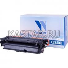 Картридж NVP совместимый NV-CE250X Black для HP LaserJet Color CP3525 | CP3525dn | CP3525n | CP3525x | CM3530 | CM3530fs Черный (Black) 10500стр.