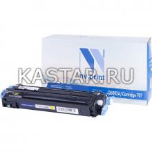 Картридж NVP совместимый NV-Q6002A | NV-707 Yellow для HP LaserJet Color 1600 | 2600n | 2605 | 2605dn | 2605dtn | Canon  i-SENSYS LBP-5000 | 5100 Желтый (Yellow) 2000стр.