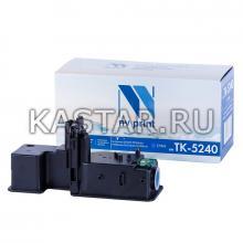 Картридж NVP совместимый NV-TK-5240 Cyan для Kyocera ECOSYS P5026cdn   P5026cdw   M5526cdn   M5526cdw Голубой (Cyan) 3000стр.